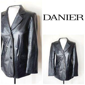 DANIER Genuine Leather Vintage 90's Black Jacket